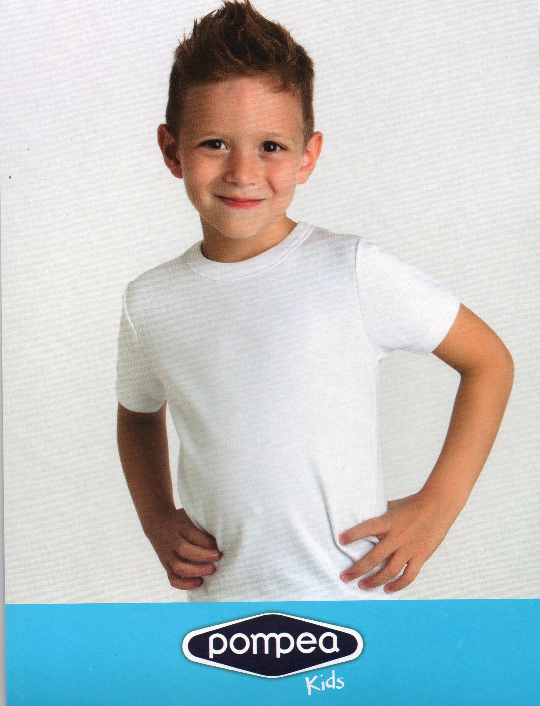 e4e41c1e05 Pompea t-shirt bimbo caldo cotone
