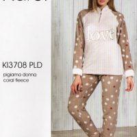 Pigiama donna Karel coral fleece 3708
