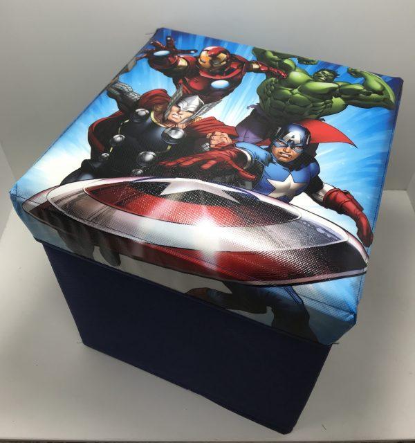 Pouf contenitore pieghevole Avengers