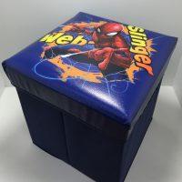 Pouf contenitore pieghevole Spiderman
